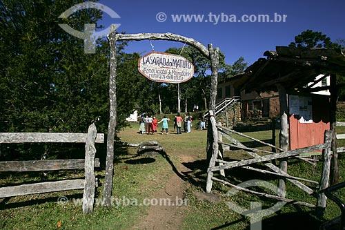 Assunto: Entrada do Casarão do Matutu - centro comunitário e associação dos moradores da região que também funciona como pousada / Local: Aiuruoca - Minas Gerais (MG) - Brasil / Data: 07/2008