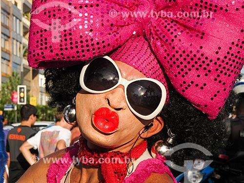 Folião no bloco de carnaval de rua Banda de Ipanema  - Rio de Janeiro - Rio de Janeiro - Brasil