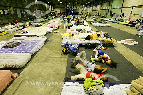 Abrigo para os desabrigados pelas fortes chuvas  - Teresópolis - Rio de Janeiro - Brasil