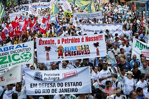Manifestação Contra a Covardia! Em defesa do Rio! - contra distribuição dos royalties do petróleo  - Rio de Janeiro - Rio de Janeiro - Brasil