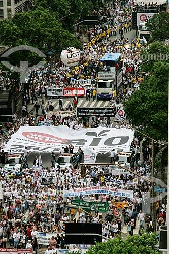 Manifestação Veta Dilma! - contra distribuição dos royalties do petróleo  - Rio de Janeiro - Rio de Janeiro - Brasil