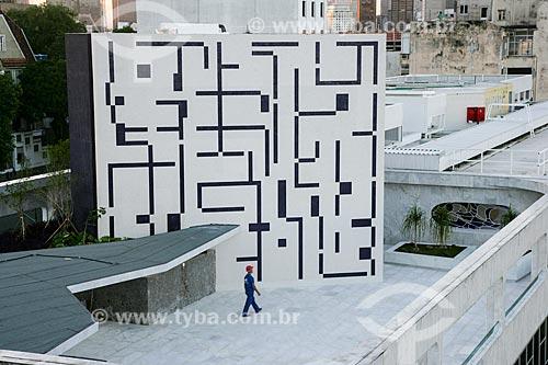 Painel na cobertura do Edifício Manchete  - Rio de Janeiro - Rio de Janeiro - Brasil