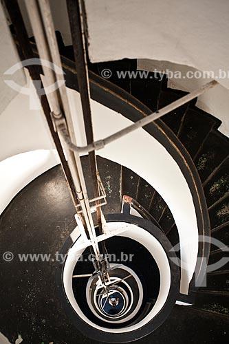 Assunto: Escada em forma de caracol - Farol Preguiças também chamado Farol de Mandacarú - Área da Marinha do Brasil / Local: Barreirinhas - Maranhão (MA) - Brasil / Data: 06/2013