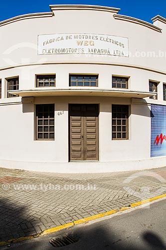 Assunto: Prédio que abrigou a primeira sede da WEG, onde hoje funciona o Museu WEG / Local: Jaraguá do Sul - Santa Catarina (SC) - Brasil / Data: 03/2014