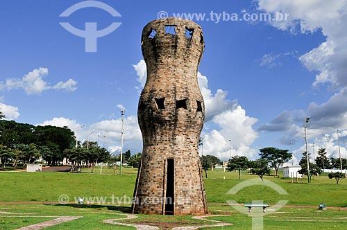 Assunto: Monumento ao Índio no Parque Das Nações Indígenas / Local: Campo Grande - Mato Grosso do Sul (MS) - Brasil / Data: 04/2014