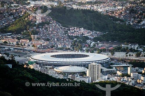Assunto: Vista do Estádio Jornalista Mário Filho (1950) - Maracanã - e do Ginásio Gilberto Cardoso (1954) - também conhecido como Maracanãzinho / Local: Maracanã - Rio de Janeiro (RJ) - Brasil / Data: 03/2014