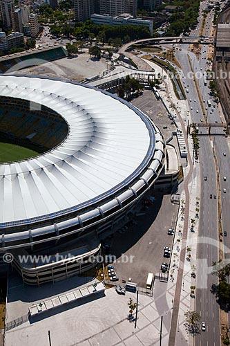Assunto: Foto aérea do Estádio Jornalista Mário Filho (1950) - também conhecido como Maracanã / Local: Maracanã - Rio de Janeiro (RJ) - Brasil / Data: 02/2014