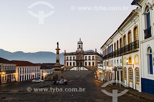 Assunto: Monumento a Tiradentes e Museu da Inconfidência - antiga Casa de Câmara e Cadeia de Vila Rica / Local: Ouro Preto - Minas Gerais (MG) - Brasil / Data: 06/2012
