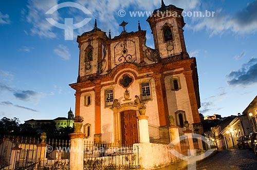 Assunto: Vista da Igreja de Santa Efigênia  / Local: Ouro Preto - Minas Gerais (MG) - Brasil / Data: 06/2012