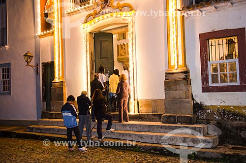 Assunto: Vista noturna da Capela de Santo Antônio / Local: São João Del Rei - Minas Gerais (MG) - Brasil / Data: 06/2012