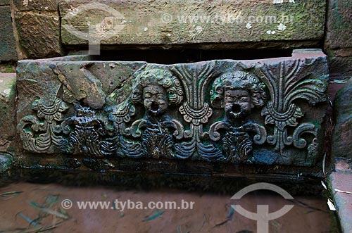 Assunto: Fonte Missioneira no Sítio Arqueológico de São Miguel Arcanjo / Local: São Miguel das Missões - Rio Grande do Sul (RS) - Brasil / Data: 06/2012