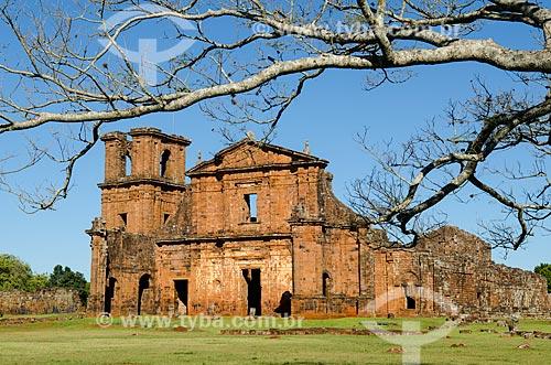 Assunto: Ruínas da Igreja de São Miguel das Missões - Sítio Arqueológico de São Miguel Arcanjo / Local: São Miguel das Missões - Rio Grande do Sul (RS) - Brasil / Data: 06/2012