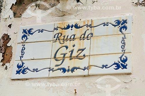 Assunto: Azulejo português da Rua do Giz no centro histórico da cidade / Local: São Luís - Maranhão (MA) -  Brasil / Data: 07/2012