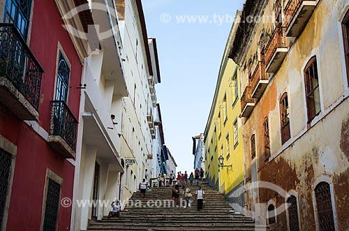 Assunto: Escadaria da Rua Humberto de Campos / Local: São Luís - Maranhão (MA) - Brasil / Data: 07/2012