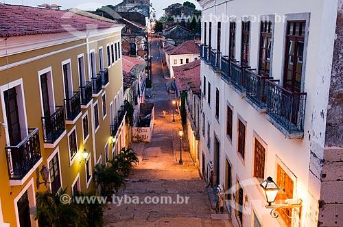 Assunto: Vista noturna da Rua do Giz  / Local: São Luís - Maranhão (MA) - Brasil / Data: 07/2012
