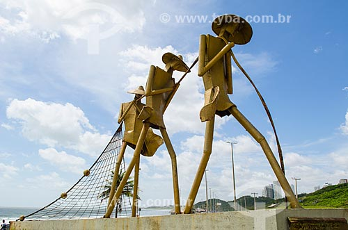 Assunto: Monumento Os Pescadores na Praça do Pescador  / Local: São Luís - Maranhão (MA) - Brasil / Data: 07/2012