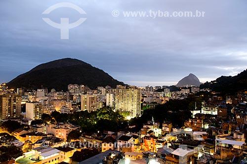 Assunto: Vista de Botafogo a partir do Morro Santa Marta / Local: Rio de Janeiro (RJ) - Brasil / Data: 09/2012