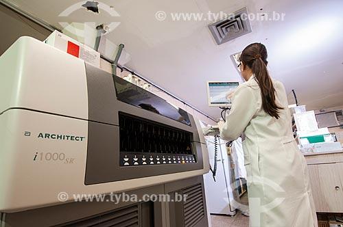 Assunto: Laboratório de Virologia do Hospital dos Servidores do Estado - um dos primeiros da rede pública a realizar teste de HIV / Local: Rio de Janeiro (RJ) - Brasil / Data: 08/2010