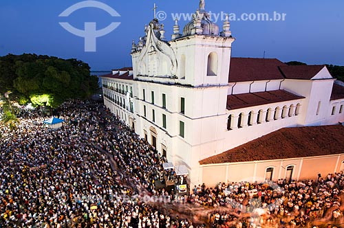 Assunto: Procissão do Círio de Nazaré em frente a  Igreja Catedral de Nossa Senhora da Graça   / Local: Belém - Pará (PA) - Brasil / Data: 10/2010