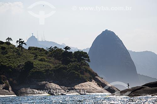 Assunto: Ilha do Veado com Pão de Açúcar ao fundo visto a partir de Niterói / Local: Rio de Janeiro (RJ) - Brasil / Data: 03/2014