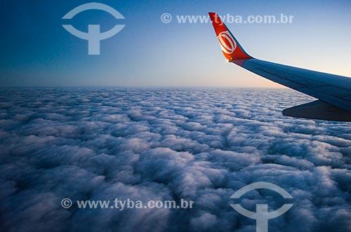 Assunto: Avião da GOL - Linhas Aéreas Inteligentes - sobrevoando o Rio de Janeiro / Local: Rio de Janeiro (RJ) - Brasil / Data: 04/2014