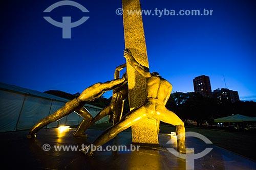 Assunto: Monumento à Goiânia (1968) - também conhecido como Monumento às Três Raças / Local: Goiânia - Goiás (GO) - Brasil / Data: 05/2014