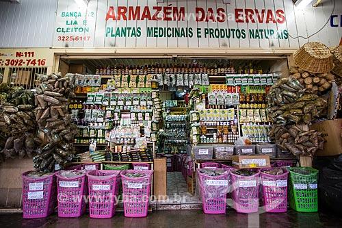 Assunto: Ervas medicinais à venda no Mercado Municipal de Goiânia / Local: Goiânia - Goiás (GO) - Brasil / Data: 05/2014
