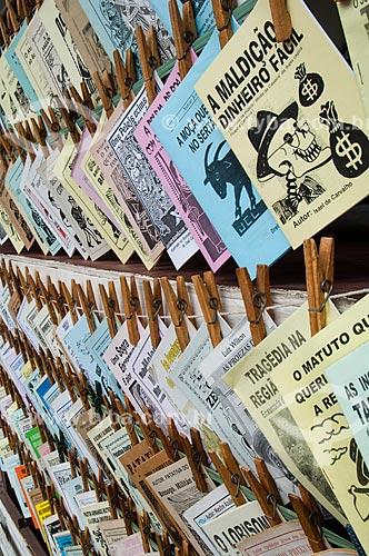Assunto: Cordéis à venda na Centro Luiz Gonzaga de Tradições Nordestinas  / Local: São Cristovão - Rio de Janeiro (RJ) - Brasil / Data: 03/2011