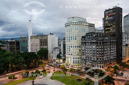 Assunto: Vista aérea da Praça Mahatma Gandhi e à esquerda o Passeio público / Local: Centro - Rio de Janeiro (RJ) - Brasil / Data: 01/2012