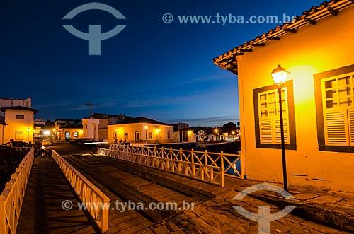 Assunto: Vista noturna do Museu Casa de Cora Coralina / Local: Goiás - Goias (GO) - Brasil / Data: 05/2012