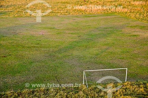 Assunto: Vista aérea de campo de futebol na Reserva Nacional Masai Mara / Local: Vale do Rift - Quênia - África / Data: 09/2012