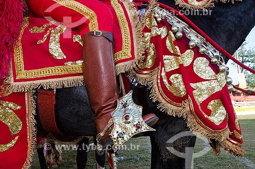 Assunto: Detalhe de Cavaleiro mouro na Festa do Divino Espiríto Santo / Local: Pirenópolis - Goiás (GO) - Brasil / Data: 05/2012