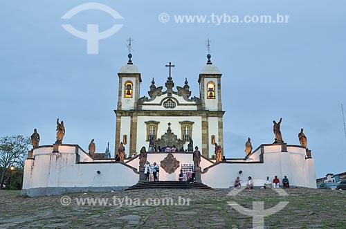 Assunto: Vista do Santuário de Bom Jesus de Matosinhos e dos doze profetas / Local: Congonhas - Minas Gerais (MG) - Brasil  / Data: 06/2012