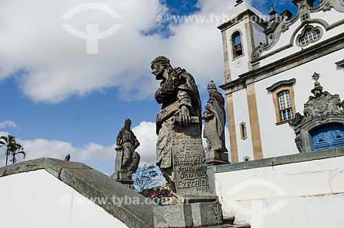Assunto: Detalhe dos doze profetas do Santuário de Bom Jesus de Matosinhos / Local: Congonhas - Minas Gerais (MG) - Brasil  / Data: 06/2012