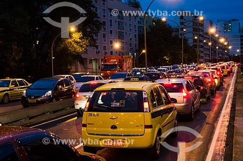 Assunto: Viaduto na Rua Pinheiro Machado engarrafado / Local: Rio de Janeiro (RJ) - Brasil / Data: 03/2013