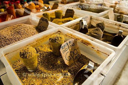 Assunto: Tempero indiano vendido no Mercado do Porto / Local: Cuiabá - Mato Grosso (MT) - Brasil / Data: 07/2013