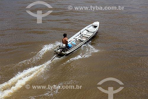 Assunto: Lancha no Rio Macujubim / Local: Breves - Pará (PA) - Brasil / Data: 03/2014