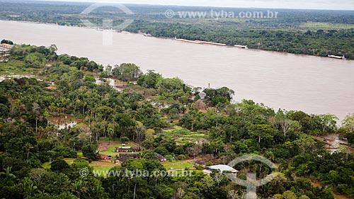 Assunto: Foto aérea do Rio Mamoré próximo a cidade de Guajará-Mirim / Local: Guajará-Mirim - Rondônia (RO) - Brasil / Data: 04/2014