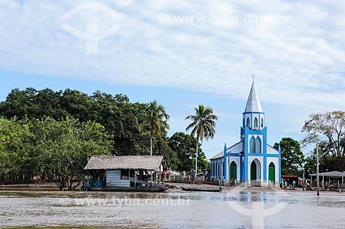 Assunto: Igreja de Nossa Senhora Aparecida após à cheia do Rio Madeira / Local: Distrito de São Carlos - Porto Velho - Rondônia (RO) - Brasil / Data: 04/2014