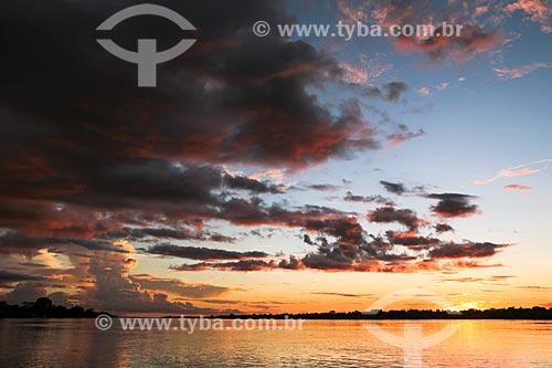 Assunto: Pôr do sol no Rio Madeira / Local: Distrito de Cujubim Grande - Porto Velho - Rondônia (RO) - Brasil / Data: 04/2014