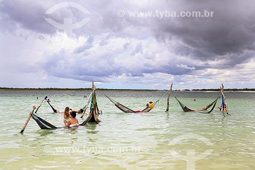 Assunto: Banhistas na praia da Vila de Jericoacoara / Local: Jijoca de Jericoacoara - Ceará (CE) - Brasil / Data: 03/2014