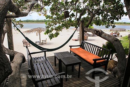 Assunto: Deck na praia da Vila de Jericoacoara / Local: Jijoca de Jericoacoara - Ceará (CE) - Brasil / Data: 03/2014