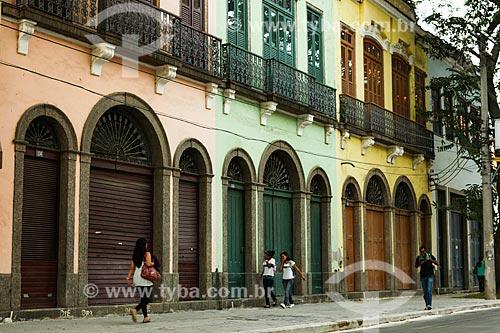Assunto: Casario antigo na Rua Sacadura Cabral / Local: Saúde - Rio de Janeiro (RJ) - Brasil / Data: 07/2012