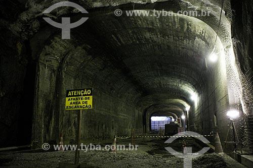 Assunto: Canteiro de obras da Via Binário do Porto - construção do Túnel da Saúde / Local: Saúde - Rio de Janeiro (RJ) - Brasil / Data: 07/2012