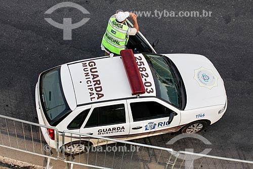 Assunto: Viatura da Guarda Municipal na interdição da Avenida Radial Oeste - também conhecida como Avenida Presidente Castelo Branco / Local: Maracanã - Rio de Janeiro (RJ) - Brasil / Data: 06/2014