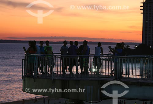 Assunto: Mirante na praia da Ponta Negra / Local: Manaus - Amazonas (AM) - Brasil / Data: 06/2014