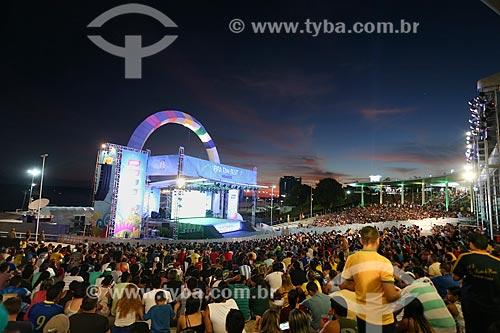 Assunto: Palco da Fifa Fan Fest na praia da Ponta Negra / Local: Manaus - Amazonas (AM) - Brasil / Data: 06/2014