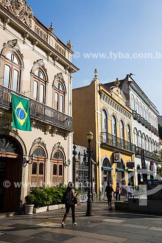 Assunto: Bandeira do Brasil na fachada do Hotel Riazor / Local: Catete - Rio de Janeiro (RJ) - Brasil / Data: 06/2014