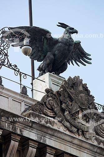 Assunto: Detalhe da fachada do Museu da República - antigo Palácio do Catete (1867) / Local: Catete - Rio de Janeiro (RJ) - Brasil / Data: 06/2014