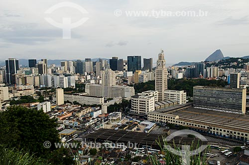 Assunto: Vista da Central do Brasil a partir do Morro da Providência / Local: Rio de Janeiro (RJ) - Brasil / Data: 12/2012